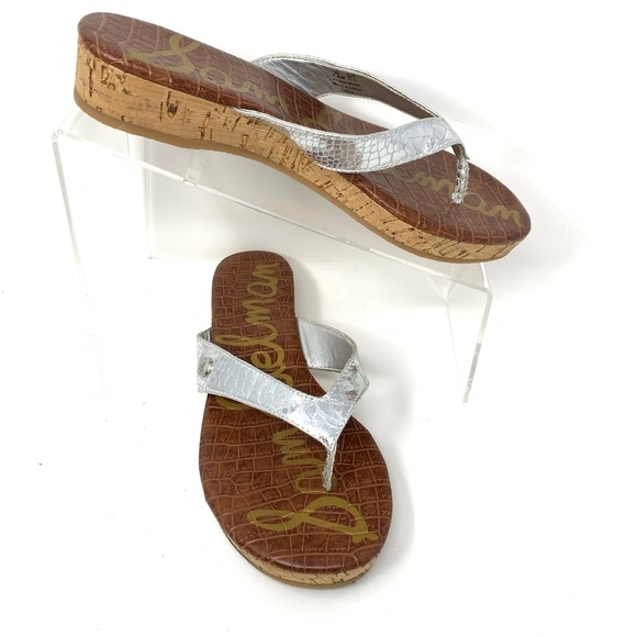 Sam Edelman Shoes - Sam Edelman Sandals 'Tanya' Size 7.5 Silver